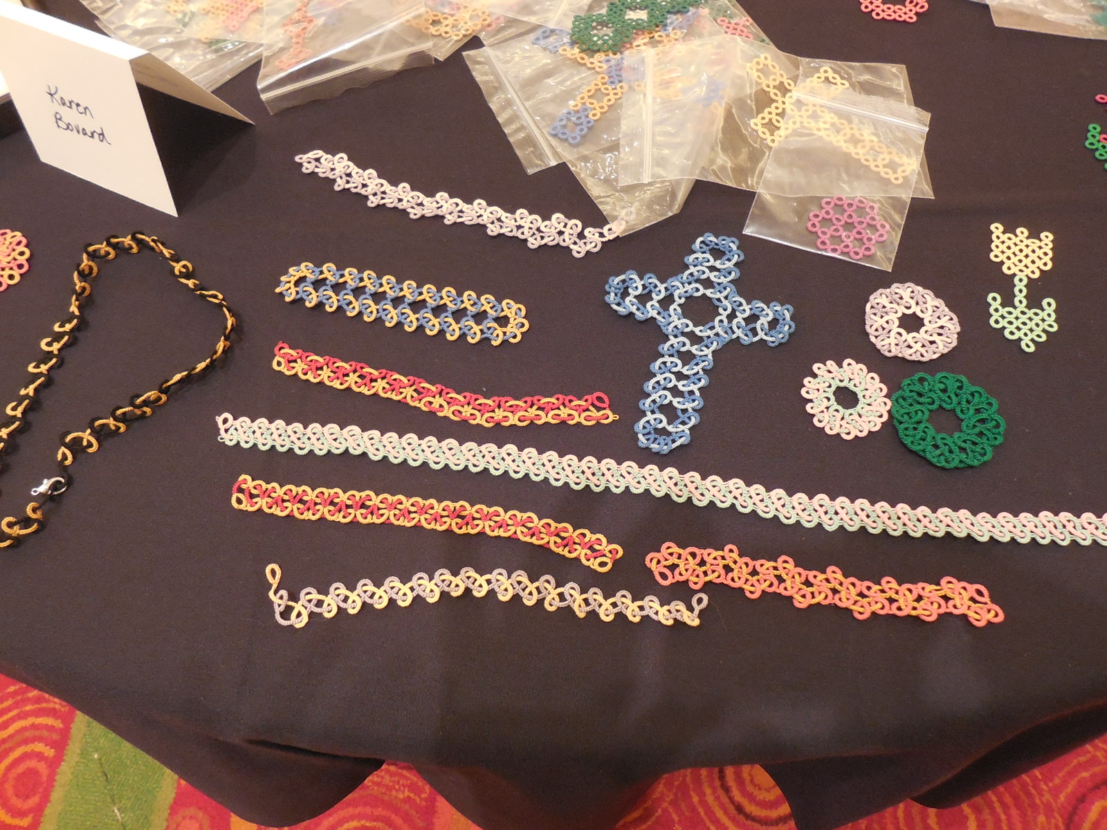 My Tatting Exhibit At Convention The Shuttlesmith